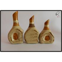 Cerâmica Esmaltada - Trio De Vasos