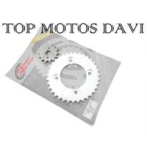 Kit Relação Transmissão Moto Honda Pop 100