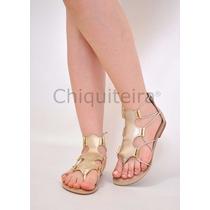 Sandálias Feminina Gladiadora Baixa 003 - Chiquiteira Outlet