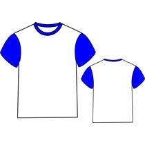 Camisetas Com Mangas Coloridas 100% Poliester P/ Sublimação