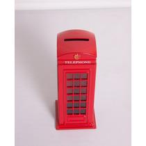 Cofre De Moedas Em Metal Miniatura Cabine Telefonica Inglesa