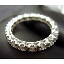 Aliança Inteira De Diamantes Em Ouro Branco **** !