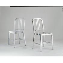 Cadeira 100% Aço Inox Modelo Emeco Navy 1006