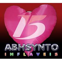 Coração 15 Anos - Sputnik Inflável - 150x150 Cm - Abhsynto