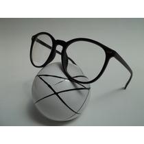 Armação Óculos P/ Grau Masculino Wayfarer, Redondo Cor Preto