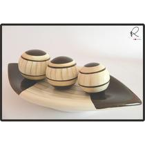 Cerâmica Esmaltada - Aparador Com Bolas