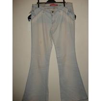 Calça Jeans Da Sawary C/ Elastano / Boca Larga Tam 42