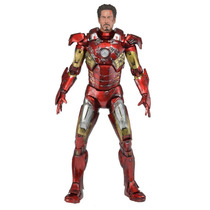 Boneco Neca 1:4 Iron Man Battle Damage 46 Cm Os Vingadores