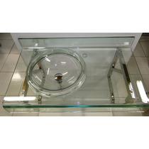 Gabinete De Vidro Incolor P/banheiro - Com Espelho - 70cm
