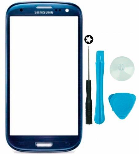 Tela Vidro S/ Touch Azul Galaxy S3 Gt-i9300 + Chaves + Fita