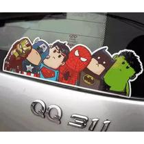 Acessório Adesivo Carro Automotivo Herois Marvel Frete Grati