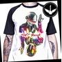 Camiseta Daft Punk Ou Baby Look Camisa Banda Raglan