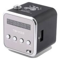 Mini Radio Caixa De Som Sd/usb/fm Digital Speaker (td-v26)