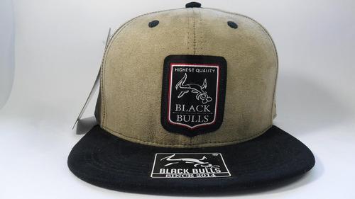 25942ada99637 Boné Cap Camurça Original Aba Reta Snapback Black Bulls A27