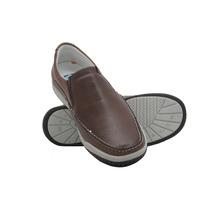 Sapato Conforto Antistress De Couro - Até P/ Diabéticos 6000
