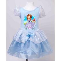 Vestido Fantasia Infantil Criança Princesinha Sofia Princesa