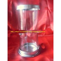 Castiçal Copo Vela Votiva 7 Dias Base Borda Aluminio 18cm