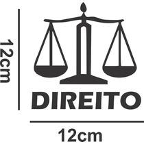 Adesivo Decorativo Automotivo Carro Curso Profissões Direito