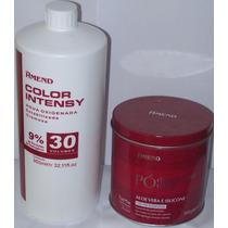 Kit Amend Pó Descolorante 300g + Água Oxigenada 30v 950ml