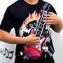 Camiseta Que Toca Rock De Verdade! Isso Mesmo! Ela Toca!!
