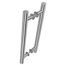Puxador De Porta 3008 Redondo Alumínio Escovado 1