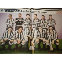 Poster Botafogo Melhor Time Todos Os Tempos Placar 42 X 27cm