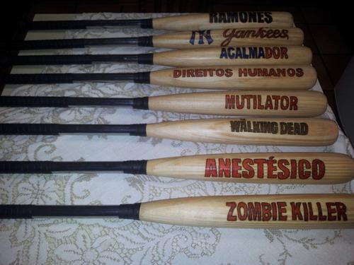 Tacos Baseball Metal Com Madeira Gravados d427288ac4749