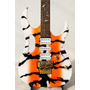 T. Johnson Mod. Steve Vai Custom Painted Orange Tiger