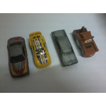 Lote 4 Carrinhos Metal Plastico