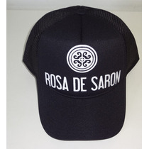 Boné Trucker Tela Rosa De Saron White Metal