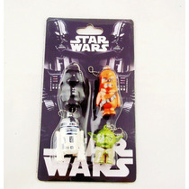 Chaveiro Star Wars - R2-d2 - Darth Vader - Chewbacca - Yoda