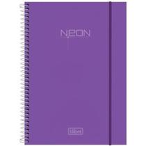 Caderno Univ Esp Cd 10 Matérias 200fls Top Neon Lilás