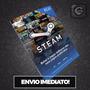 Steam Cartão Pré-pago  Reais Crédito Card - Imediato Original