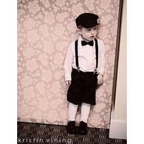 Suspensório + Gravata Borboleta Infantil
