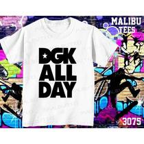 Camisetas E Baby Look Skate Dgk All Day Urbano City Radical