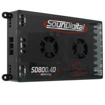 Sd 800.4 Soundigital 800w Rms 4 Canais Módulo Amplificador