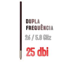 Antena Omni 25dbi Dupla Frequência 2.4/5.8 Internet Wireless
