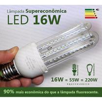 Kit 5 Lâmpada Led 16w Super Econômica Branca 6000k E27 Bivo