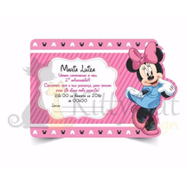 Convite Infantil Aniversário Minnie