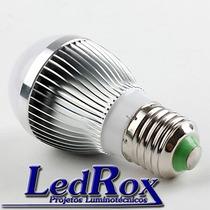 Lampada Led 6w, Branco Frio 530 Lúmens, 85-265v, E-27