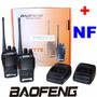 Kit 2 Rádios Ht Baofeng Uhf Vhf 16 Canais Completos Bf-777s