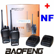 Kit 2 Rádios Ht Baofeng Uhf Vhf 16 Canais Completos Bf-777s