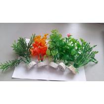 Plantas Artificiais Para Aquarios - 12cm - Kit C/ 6 Unidades