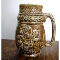 Antigo Caneco De Chop Decorativo Porcelana #2389