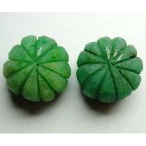 Par De Esmeraldas Forma Artistica Verde 41 Cts! Ref.:267