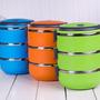 Marmita Aço Inox Térmica Fitness Dieta 3 Compartimentos