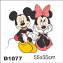 Adesivo D1077 Mikey Mouse Minnie Disney Decorativo Kid