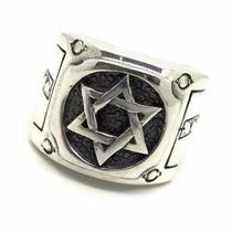 Anel Estrela De Davi Rebites Prata De Lei 12x S/ Juros 10988