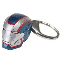 Chaveiro Cabeça Iron Man 3 Iron Patriot Luz De Led Nos Olhos