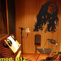 Adesivo D12 Bob Marley Silhueta Adesivo Decorativo Parede